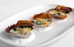 Tempting Seafood Entree Stock Photos