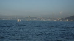 Istanbul Bosphorus Ferry Trip Stock Footage