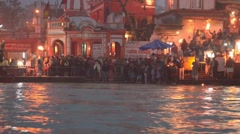Prayer - Prayer in the river,  Stock Footage