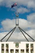 Parliament House Flagpole - stock photo