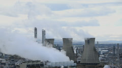 Grangemouth oil refinery Stock Footage