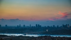 Time lapse Bosphorus bridge Istanbul, Turkey Stock Footage