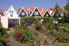 Rear Gardens - the Netherlands - stock photo