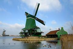 Dutch Windmills Stock Photos