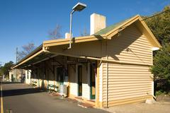 Country Railway Station - stock photo