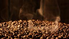 Smell of freshly roasted coffee Stock Footage