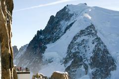 Atop Aiguille du Midi, France Stock Photos