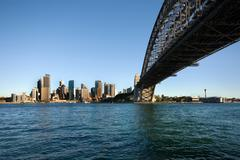 Sydney Harbour Bridge and CBD - stock photo