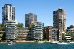 Harbourside Living - stock photo