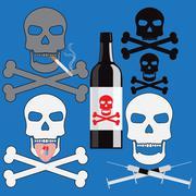 Stock Illustration of poison addiction