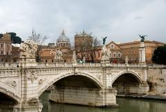 Tiber River, Rome, Italy Stock Photos