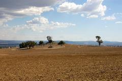 Stock Photo of Ploughed Farmland