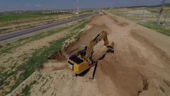 Excavator  - top shot Stock Footage