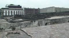 Tenochtitlan ruins, Mexico Stock Footage