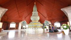 Wat Doi Mae Pang Temple Of Chiang Mai, Thailand Stock Footage