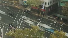 4k Overhead North Sydney timelapse tracking shot - stock footage