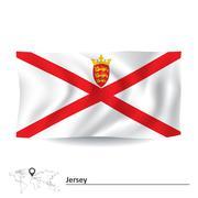 Flag of Jersey Stock Illustration