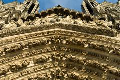 Stock Photo of Ornate Decorations, Reims Cathedral, France