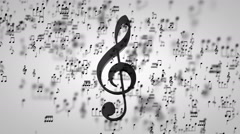 Music Key Particles 01 - stock footage