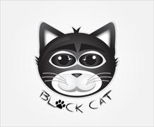 Black cat head Piirros