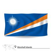 Flag of Marshall Islands Stock Illustration