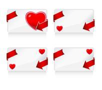 four love card - stock illustration