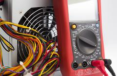 Multimeter. Instrument for measuring voltage Stock Photos