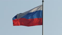 Russian flag in the wind Stock Footage