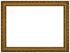 Picture frame, isolated on white background Stock Photos