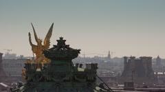 Roofs of Paris Paris Opera statue - 1080p Stock Footage