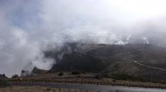 4k Clouds on mountain Pico do Arieiro in Madeira Stock Footage