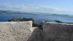 Cap de Formentor, North Majorca, Spain, tower view Stock Footage
