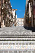 Caltagirone Stair - stock photo