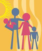 Family Stock Illustration