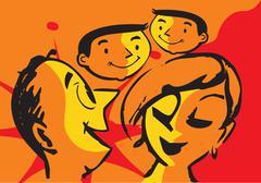 family - stock illustration