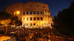 The Colosseum in Rome, Italy Stock Footage