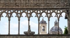 Viterbo (Italy), Palace of the Popes - stock photo