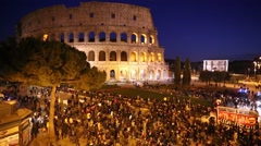 The Colosseum in Rome, Italy - stock footage