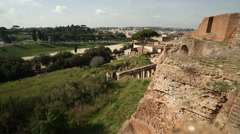 View from Palatine Hill, Rome, Italy Stock Footage