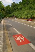 Bicycle path - stock photo