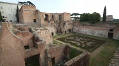 Palatine Hill, Rome, Italy Stock Footage