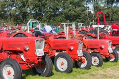 NIEUWEHORNE, THE NETHERLANDS - SEP 28: Exposition of tractors during the agri Stock Photos
