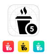 Coffe cup with number icon Stock Illustration