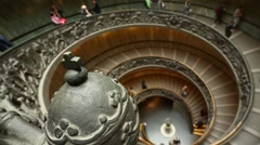 Spiral Staircase at the Vatican Museums Stock Footage