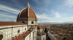 A viewpoint of the Duomo, Florence Stock Footage