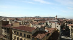 A viewpoint over Florence, Italy Stock Footage