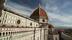 Stock Video Footage of A viewpoint of the Duomo, Florence