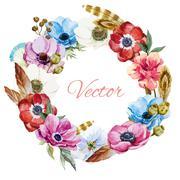Stock Illustration of Nice Anemones wearth