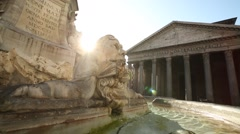 The Pantheon in Rome, Italy - stock footage