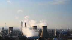 Grangemouth petrochemical plant Stock Footage
